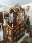 Mimbar Masjid Ukuran Standar Klasik Kayu Jati