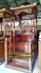 Mimbar Sunnah Ukuran Kecil Classic Kayu Jati