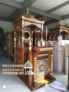 Mimbar Masjid Podium Banyuwangi Kayu Jepara