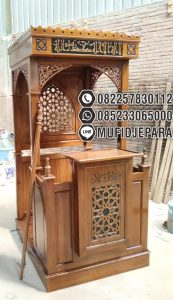 Mimbar Masjid Podium Malang Dari Jepara