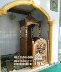 Mimbar Masjid Podium Pekalongan Asli Jepara