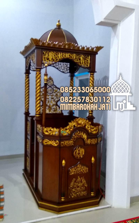 Mimbar Masjid Situbondo Buatan Jepara