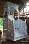 Mimbar Masjid Tangerang Kayu Jepara
