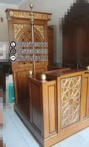 Mimbar Podium Masjid Cimahi Asli Jepara