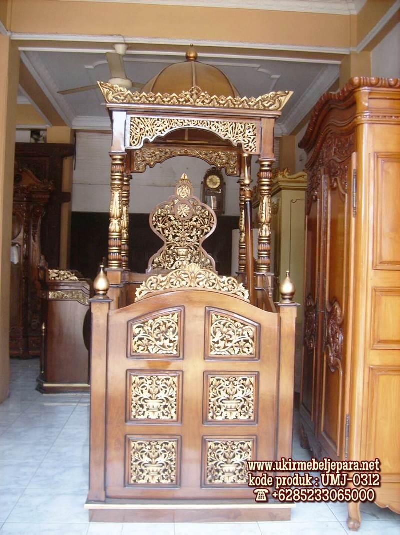 Mimbar Podium Masjid Jember Asli Jepara