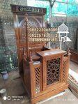 Mimbar Podium Masjid Pemalang Kayu Jepara