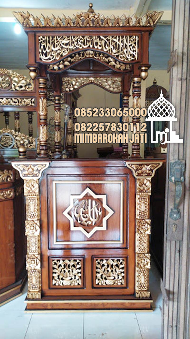 Model Mimbar Podium Masjid Surabaya Buatan Jepara