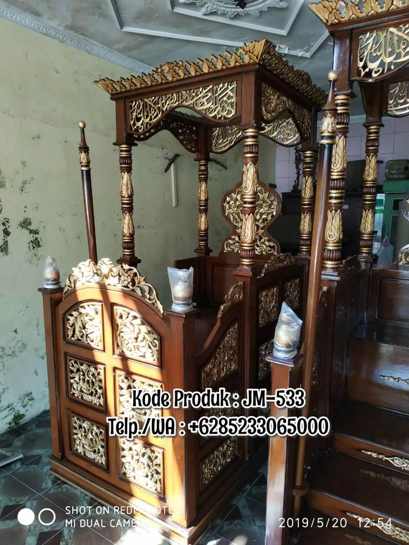 Podium Mimbar Kubah Banjarnegara Kayu Jepara