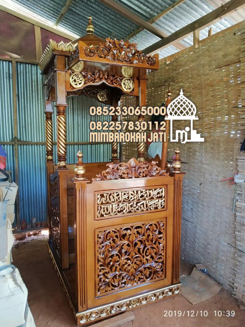 Mimbar Masjid Atap Kubah Cakung Kayu Jepara
