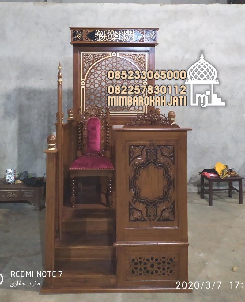 Mimbar Podium Masjid Gresik Mimbar Minimalis Kayu Jepara