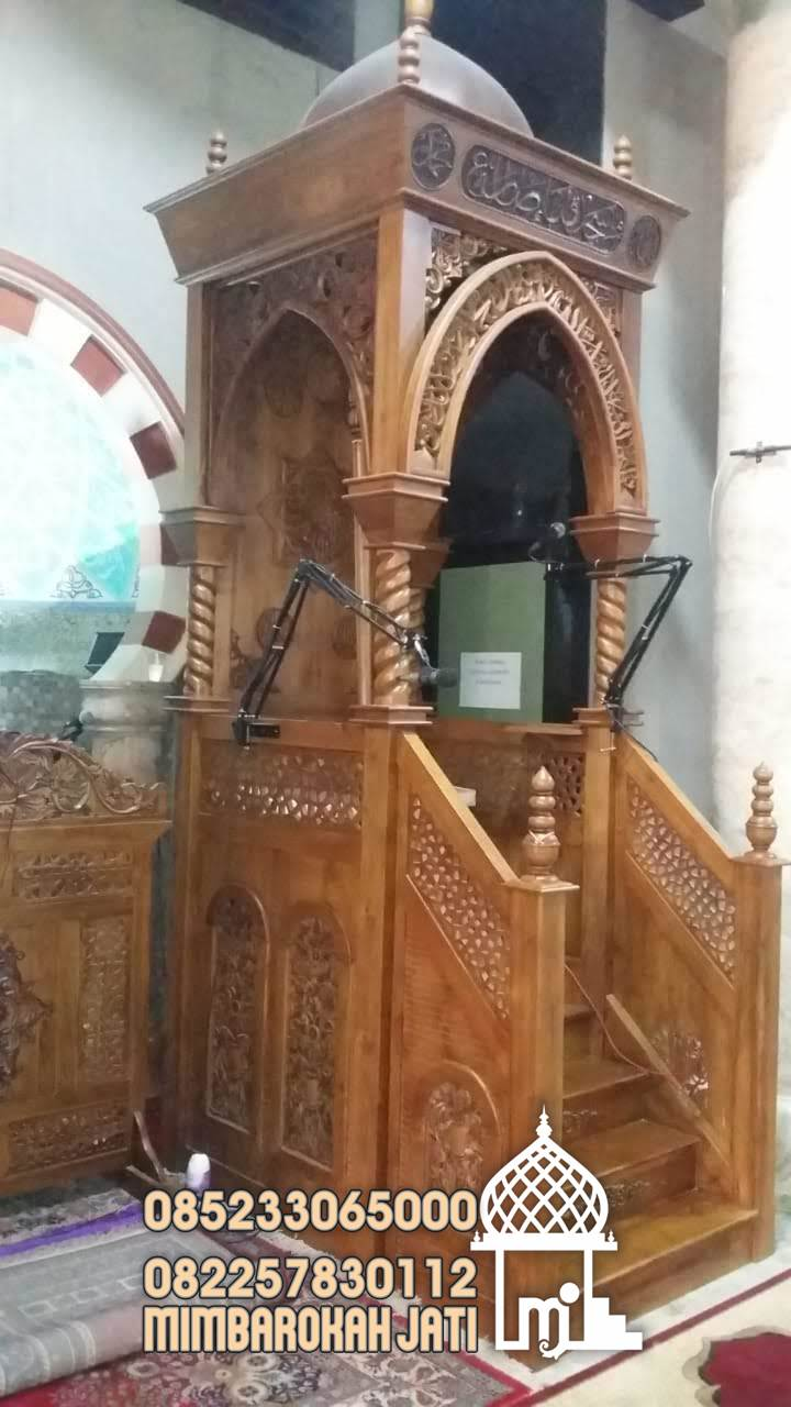 Mimbar Masjid Sesuai Sunnah Pandeglang Buatan Jepara
