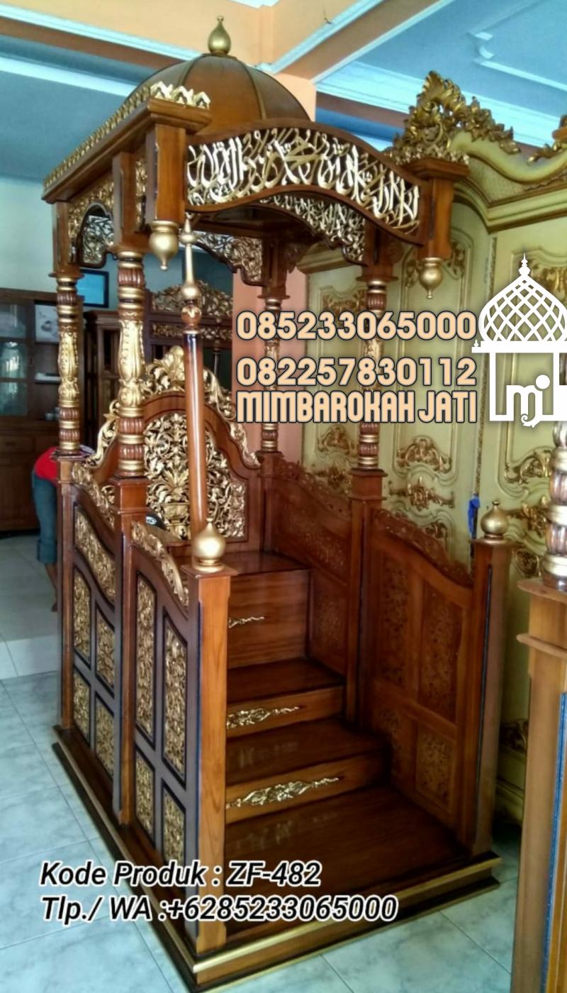 Mimbar Masjid Sunnah Podium Klaten Kayu Jepara