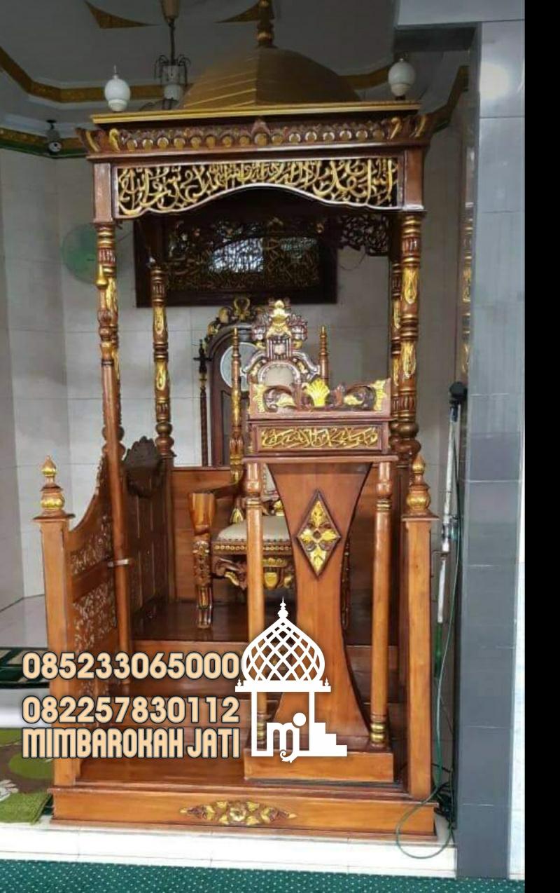 Mimbar Kayu Podium Masjid Jepara Kayu Jepara
