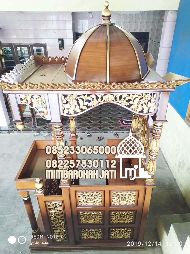 Mimbar Masjid Podium Batu Asli Jepara