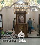 Mimbar Masjid Podium Tangerang Dari Jepara