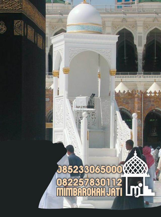 Mimbar Putih Masjid Bogor Dari Jepara