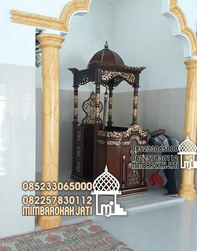 Podium Mimbar Masjid Temanggung Asli Jepara