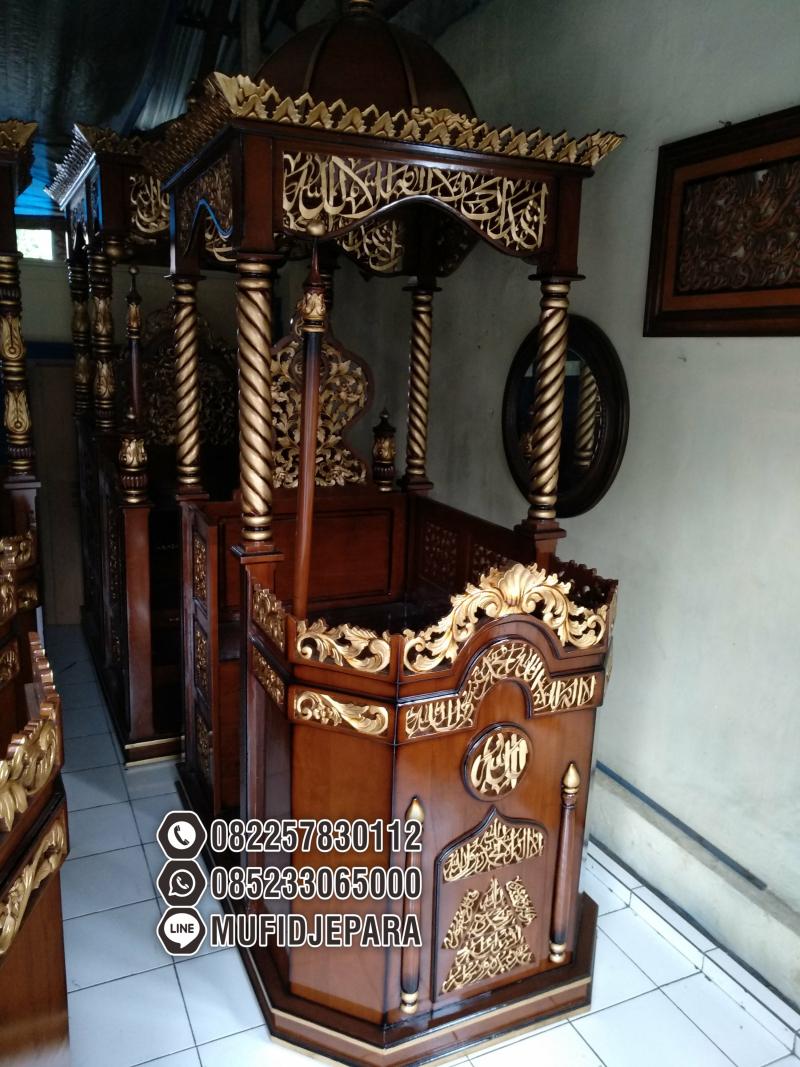 Mimbar Masjid Podium Ciruas Buatan Jepara