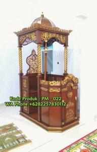 Mimbar Masjid Podium Lamongan Dari Jepara