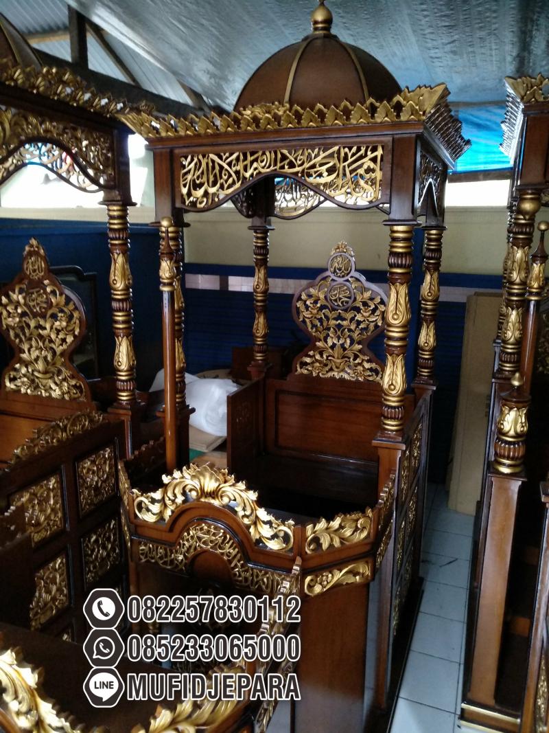 Mimbar Masjid Podium Kudus Buatan Jepara