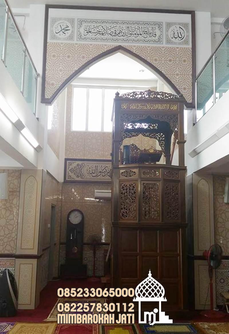 Mimbar Podium Masjid Tangerang Selatan Dari Jepara
