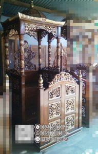 Mimbar Podium Masjid Sragen Kayu Jepara