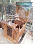 Mimbar Podium Masjid Kepanjen Kayu Jepara