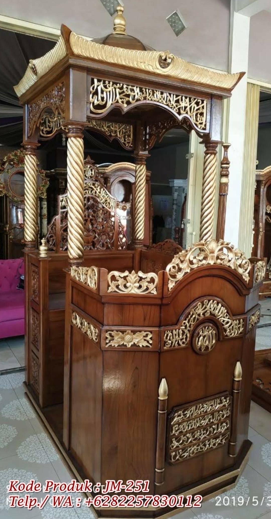 Mimbar Podium Masjid Ngawi Kayu Jepara